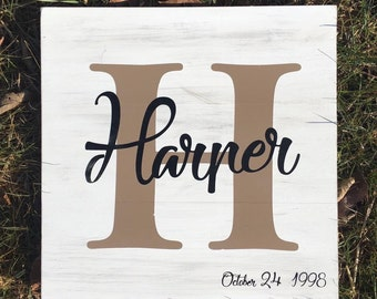 Wedding Sign/ Last Name Sign/ Family Initial, Monogram/ Distressed Sign/ Established Date/ Wedding Gift/ Family Name Sign