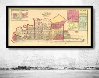 Old map of Ironton Ohio 1877