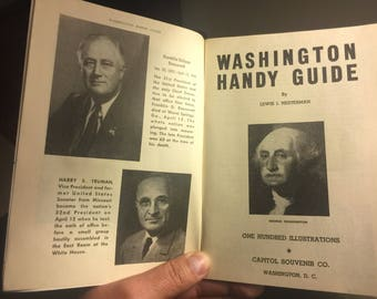 1946 Washington Handy Guide with 100 Illustrations