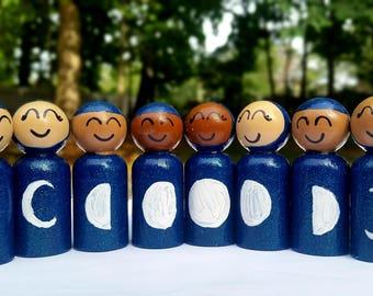 Ramadan Dolls/Phases of the Moon/Islamic/Eid/Lunar Month/Lunar Doll/Full Moon/Crescent Moon/Diverse Dolls/Montessori Waldorf