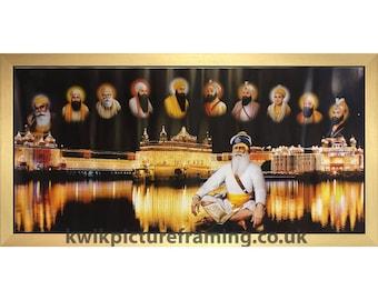 Sri Darbar Sahib Amritsar Golden Temple With Baba Deep Singh Ji In Size – 40″ X 20″ Inches