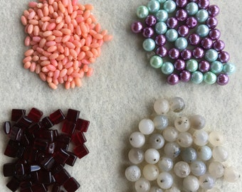 Destash Deal Glass Coral Gemstone Mixed Lot