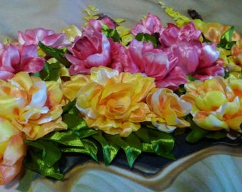 Embroidered painting handmade silk ribbons