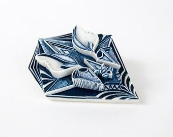 handmade porcelain bat sculpture