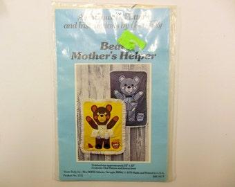 Bear Mother's Helper Pattern, Sewing, Wall Hanging, Pockets, Holder, Nursery Accessory, 23 X 33