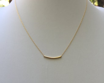 Gold bar necklace, gold necklace, dainty necklace, gold chain, gold necklace, minimalist, women jewelry, gold jewelry, delicate necklace