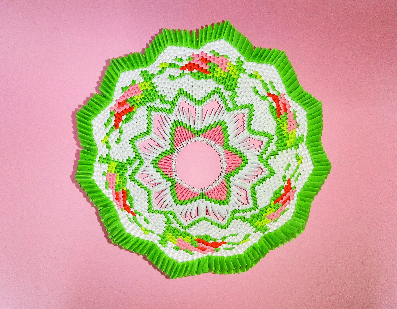 3d origami bowl handmade modular origami paper art original zoom jeuxipadfo Images