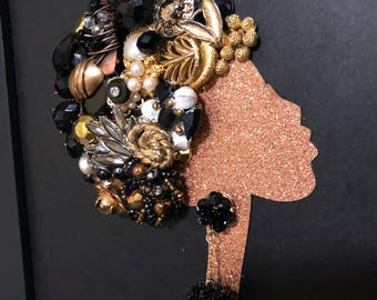 African American Woman - Jewelry Art