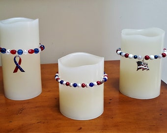 Candle Decor  July 4th Special