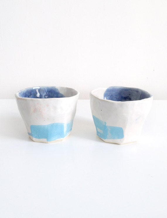 Turquoise Block Cup