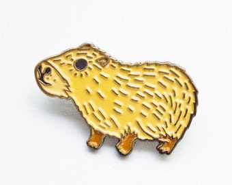 Capybara Enamel Pin Capybara Brooch Capybara Pin Badge Enamel Pin Game Lapel Pin Badge Kawaii Flair Patches and Pins Kawaii Pin