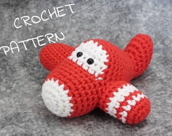 Crochet pattern toy airplane amigurumi tutorial in English, Dutch, Danish pdf