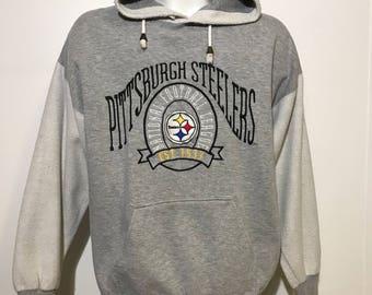 Vintage Pittsburgh Steelers Hoodie L
