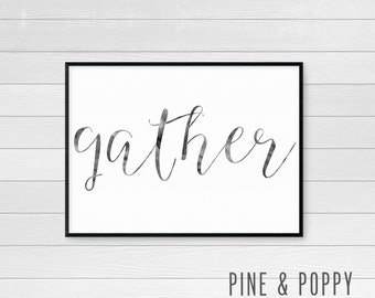 Gather Art Print - Digital Art Print - JPEG File - Instant Download