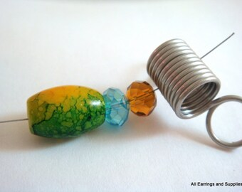 2 perle bouchon en acier inoxydable - 2 pc - 5415-M