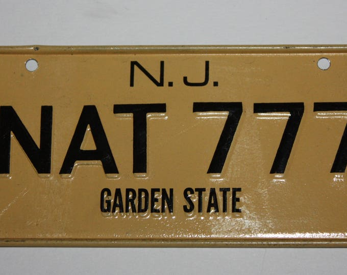 1970's New Jersey Garden State Wheaties Post Cereal Premium Bike Mini Metal License Plate