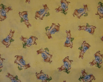 Peter Rabbit Beatrix Potter yellow background ( 30 x 42 inches )