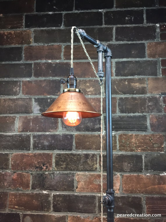 Industrial floor lamp copper shade edison bulb like this item aloadofball Image collections