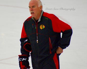 Joel Quenneville, Chicago Blackhawks, Hockey Decor, Photography