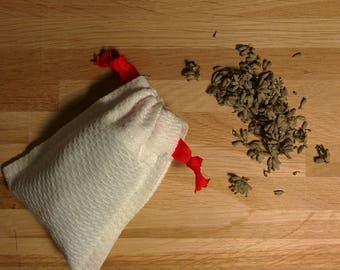Lavender sachets | Organic lavender | Red ribbon