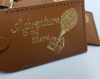 Adventure is Out There Disney UP Luggage Tag Gifts - Traveler - Wedding - Birthday - Shower & More! Made in Massachusetts!