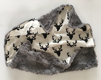 Hello Deer Mini Snuggle Lovey; blankie; minky; newborn