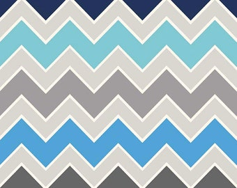 Riley Blake Medium Chevron Shaded Serene Fabric, 1 yard