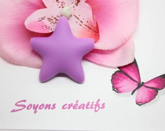 Perle Silicone food star purple 45mm