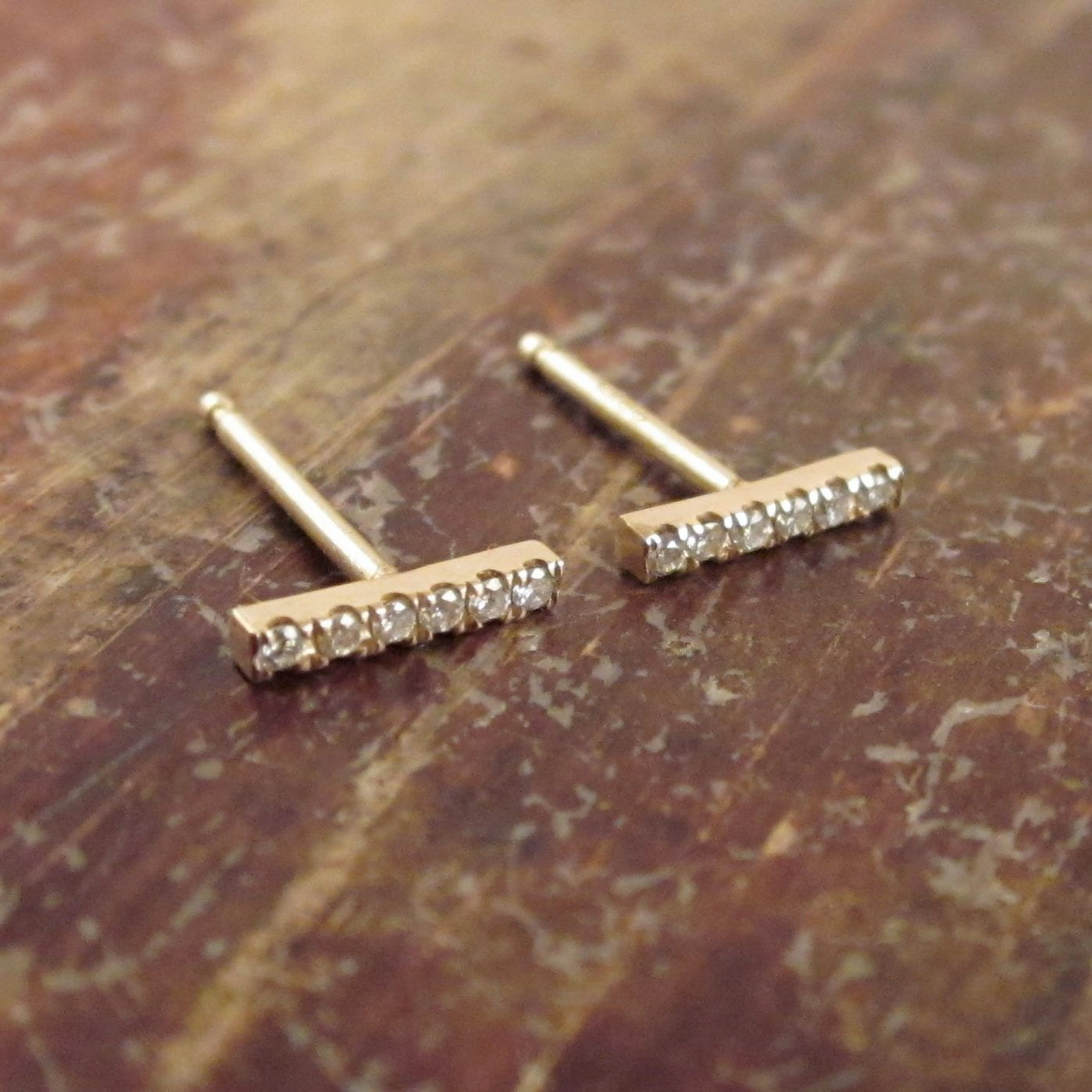 contemporary bar gold original gaamaa stud product by line earrings thin
