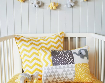 SALE..Yellow Chevron cushion cover ; yellow pillow, chevron,