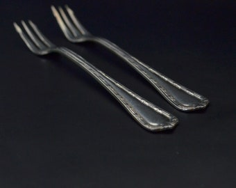 IS Silver Flatware Appetizer Forks. International Silver Silver-Plate Hors D'oeuvre Forks. Silver Oyster and Seafood Forks. ISU1