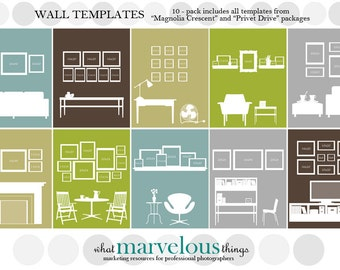 Wall Display Template 10-pack