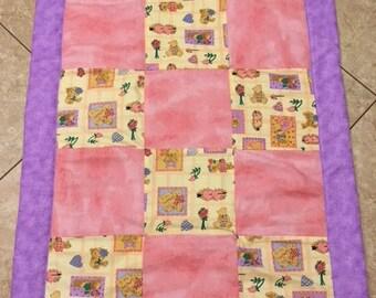 Pink & purple quilt