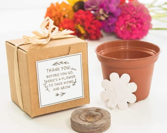 Mini Flower Garden Growing Kit - Thank You Gift - Wedding Favor, Bridal Shower Favor, Baby Shower Favor, Birthday Party Favors, Appreciation
