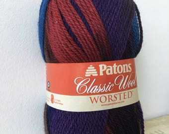 Patons Classic Wool Worsted Yarn in Palais - Wool Yarn - Worsted Wool Yarn - Weaving Yarn