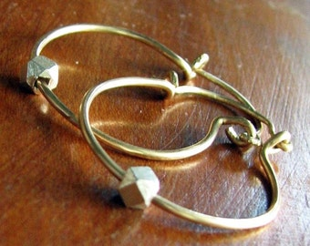 Simple Gold and Silver Hermosa Hoops
