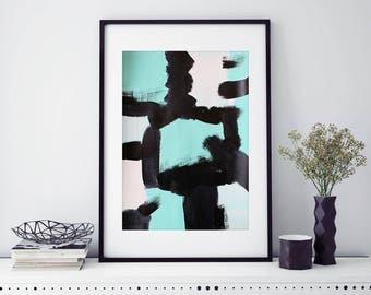 A3 30x42cm Contemporary Abstract Painting (Option to Frame)