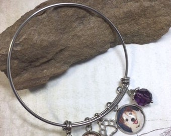 Pet Loss Bracelet Pet Memorial Cremation Bracelet Pet Photo Urn Bracelet
