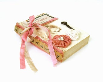 Persuasion by Jane Austen,Shabby Chic Austen Decor, RePurposed Austen Book, Austen Book Decor, Austen Wedding Book, Jane Austen Book