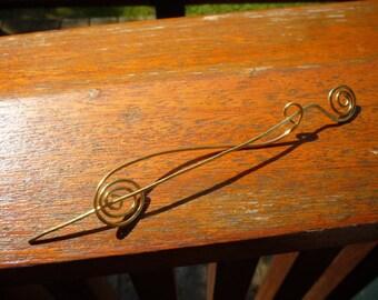 Double Spiral Designs Signature Shawl Pin