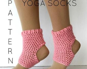 Yoga sock pattern, DIY, PDF crochet yoga sock pattern, Dance socks, Yoga gear, Permission to sell, Alpaca Yoga socks
