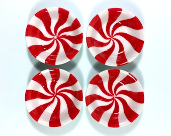 Peppermint Candy small round dipping ring dish