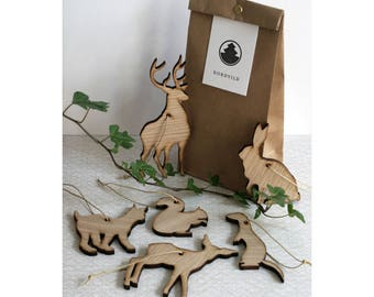 Wooden forest animals–family 2