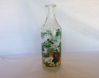 1930s-1940s Painted Glass Bottle ~ Pirate, Sailor, Seafaring Scenes ~ 5 Color