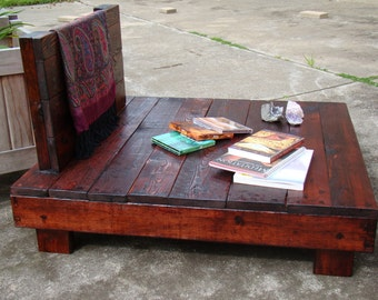 Winston Woodworks Handmade Meditation Pallet Chair Furniture Reclaimed Recycled Timber Wood Made To Order