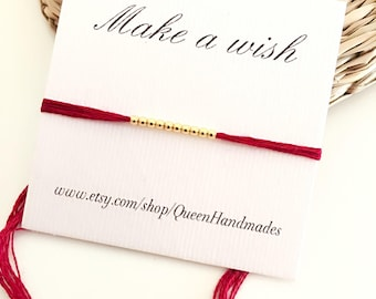 Make a wish bracelet, friendship bracelet, gold bracelet, gift  bracelet