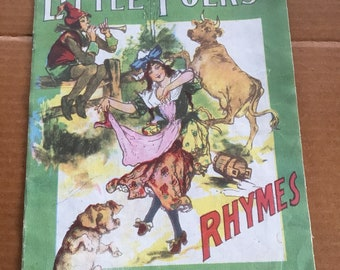 Antique 1919 SAALFIELD Publishing Co (Little Folks Rhymes) Children's Book #252