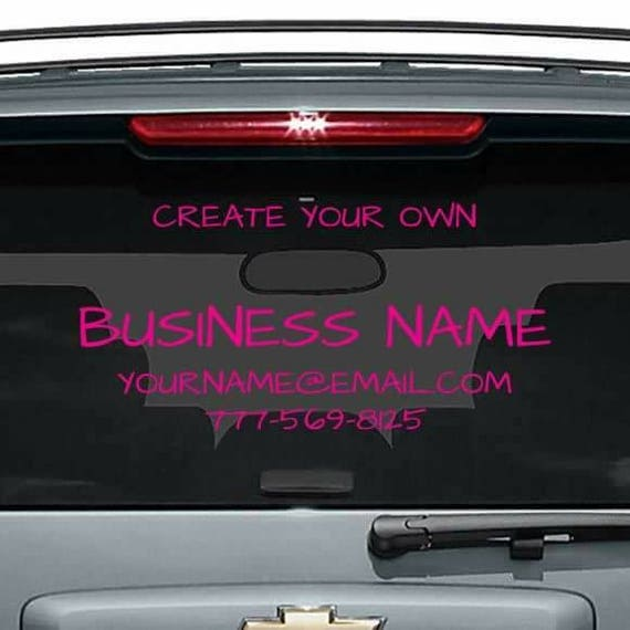 Design your own decal design your own window sticker custom