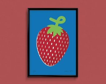 Giant Berry - 3 colour Screen Print on 280gsm paper