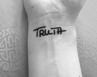 Temporary Tattoo | Truth | Tattoo Art | Yoga Tattoo | Finger Tattoo | Wrist Tattoo | Tattoo | Mini Tattoo | handmade by misssfaith